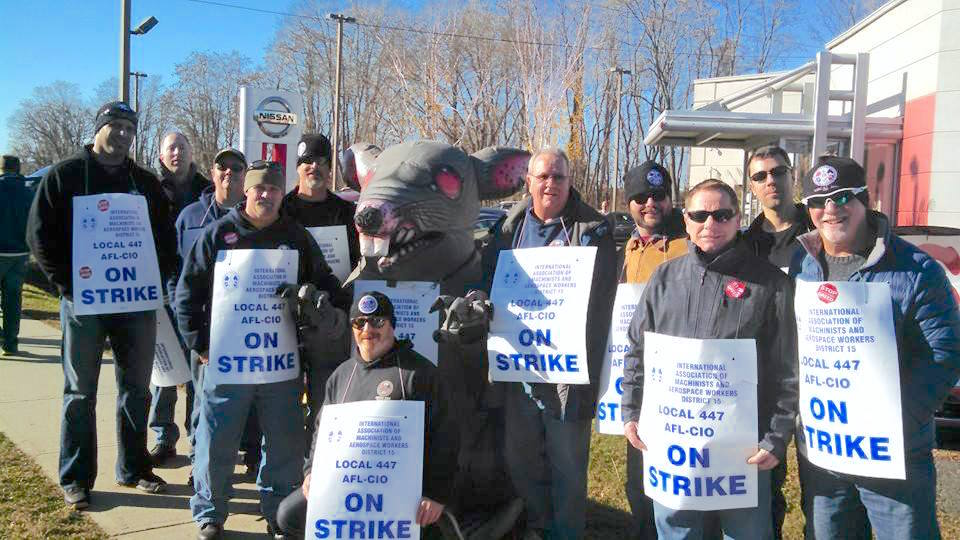 Local 264 members traveled to Hadley MA to show support for the newly organized workers on strike.
